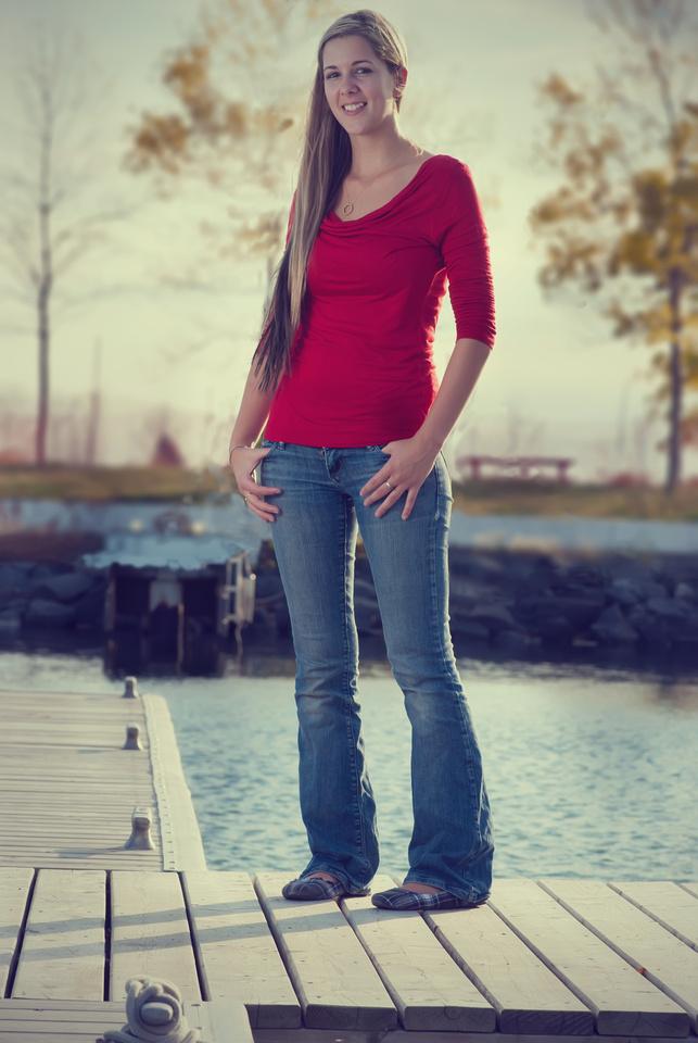 portrait of a lady on Lake superior, Marina park in Thunder Bay Ontario