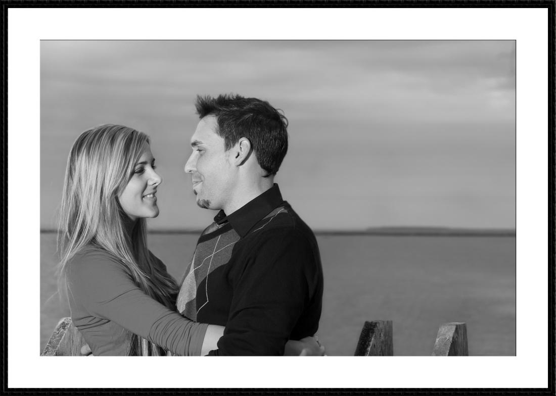 beautiful portrait of a couple on lake superior, Thunder Bay Ontario