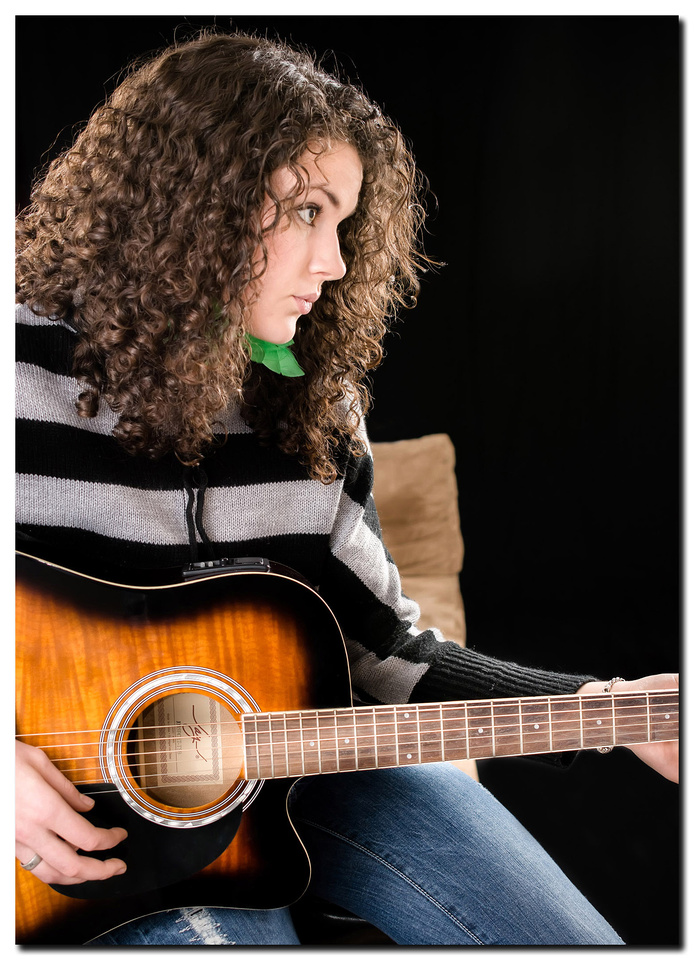 Beautiful girl and her guitar